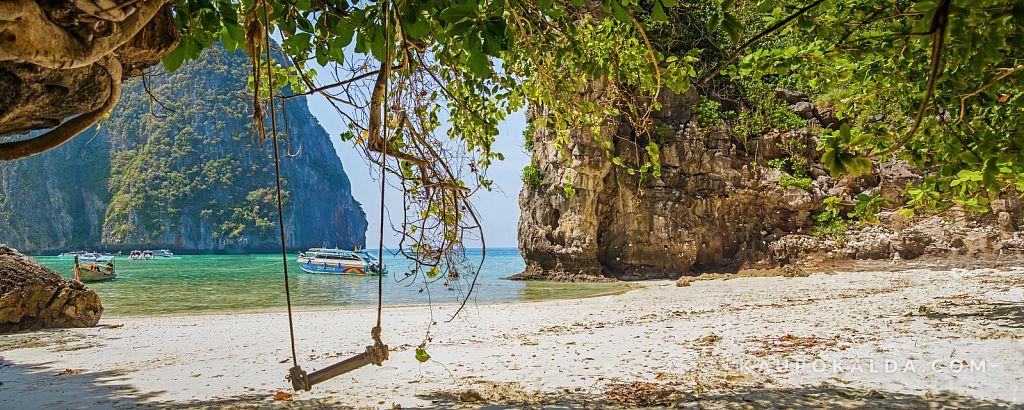 Maya beach at Ko Phi Phi Le, Thailand