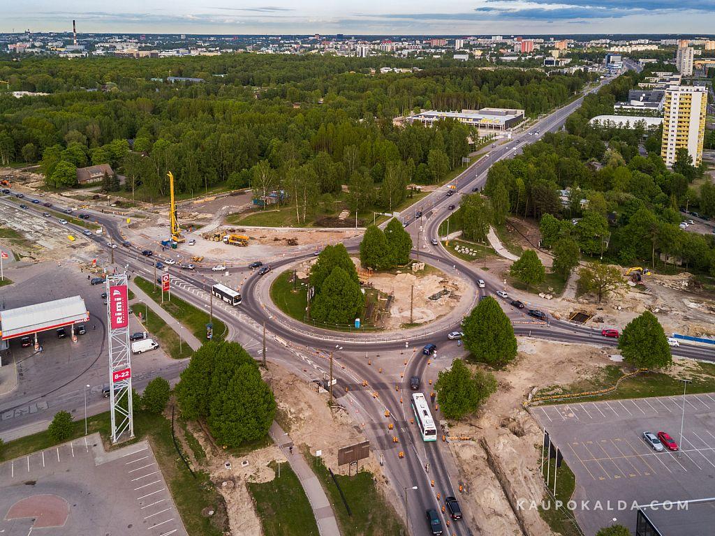 Droonifotod Haabersti ristmiku ehituselt